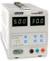 PeakTech 6070 - Alimentatore CC 0-30V 0-5A