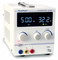 PeakTech 6140 - Alimentatore CC 0 - 30 V / 0 - 5 A
